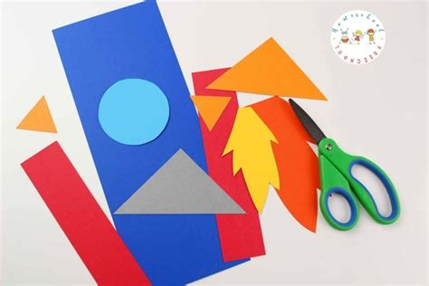 Easy Paper Weaving Rocket Craft For Preschoolers