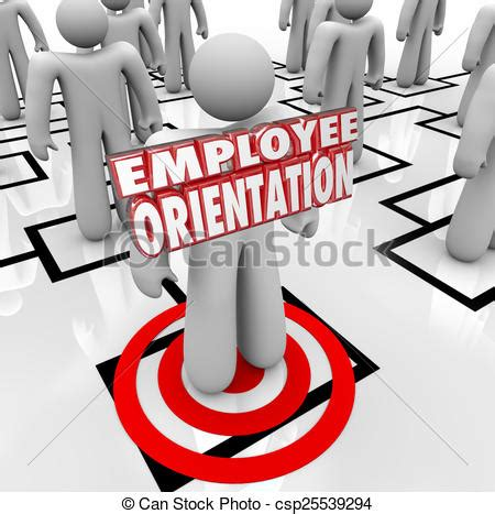 employee orientation words  worker organization chart