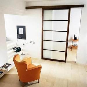 materiaux porte d39interieur bois alu ou verre With porte de garage enroulable et porte vitrée intérieure coulissante