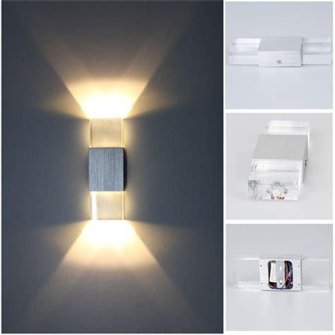 modern 2w led wall light up down l sconce spot lighting