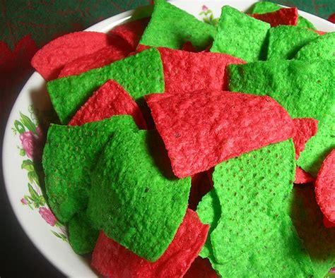 colored tortilla chips colored tortilla chips taco bar buffet platters of
