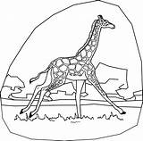 Giraffe Coloring Pages Print Line Drawing Printable Adult Name Word Stuff Fun Bestcoloringpagesforkids Animal sketch template
