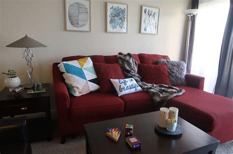 red sofa living room decor red couch living room photos peenmedia com