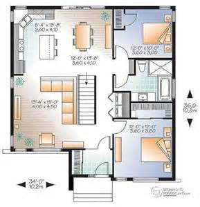 2 bedroom house plans with basement house plan w3135 v1 detail from drummondhouseplans