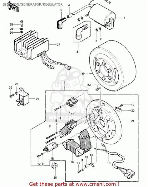 Kawasaki Ke100 Coil Wiring Diagram by Kawasaki Ke100 A6 Ke100 1977 Canada Ignition Generator