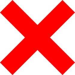Wrong Cross Clip Art