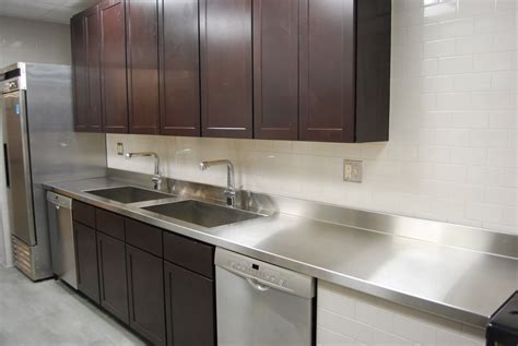 kitchen backsplashes custom metal home stainless steel countertops