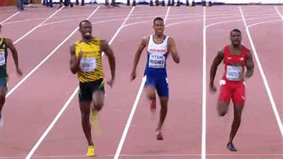 Bolt Usain Finish Jogging Line Starts 100m