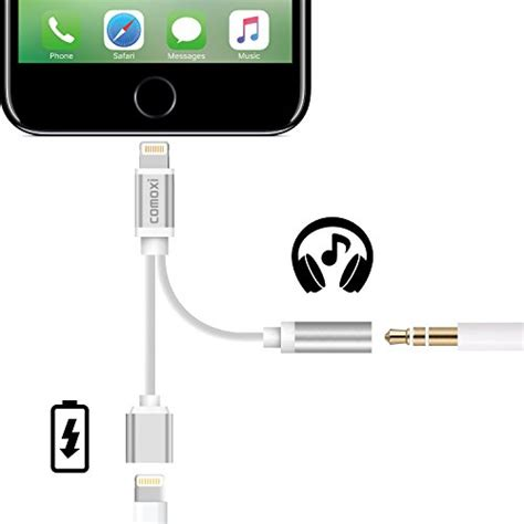 iphone 1 charger iphone 7 adapter 2 in 1 lightning cable charge and