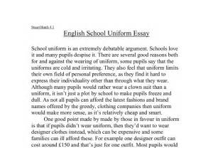 an essay about school