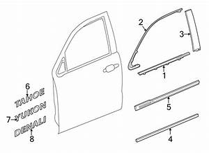 Chevrolet Tahoe Door Molding  Lower   Suburban  U0026 Yukon Xl
