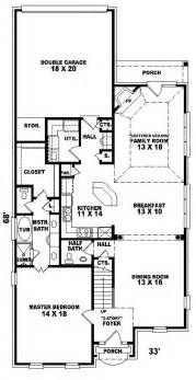 narrow house floor plans konica narrow lot home plan 087d 0310 house plans and more