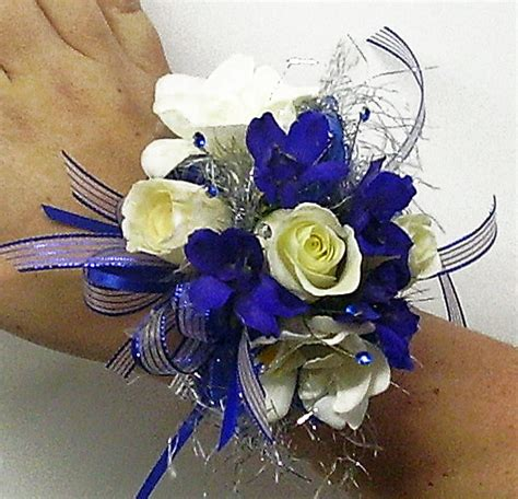 Gc X5900 Silver Blue prom flowers january 2012
