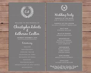 wedding program order of service printable wedding With order wedding photos