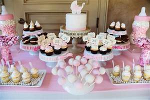 """""""It's A Girl"""" Dessert Table - Giggle Factory LA"""