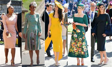 royal wedding guests  top   dressed royals