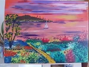 Tableau Peinture Sur Toile : peinture acrylique sur toile ~ Teatrodelosmanantiales.com Idées de Décoration