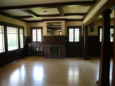 craftsman fireplace heres     coffered