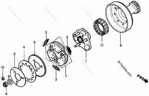 Honda Atv 1987 Oem Parts Diagram For One
