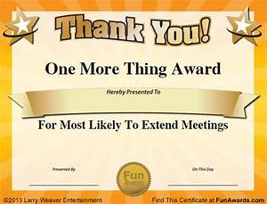 silly office awards work ideas pinterest google With silly certificates awards templates