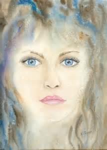 Peinture Visage Femme : pin tableau peinture art portrait visage femme fille personnages aquarelle on pinterest ~ Melissatoandfro.com Idées de Décoration