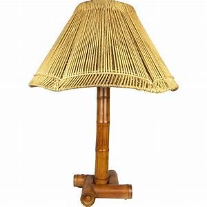Abat Jour Bambou : lampe bambou abat jour en corde 1950 design market ~ Teatrodelosmanantiales.com Idées de Décoration
