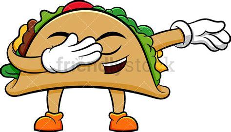 Dabbing Taco Cartoon Vector Clipart