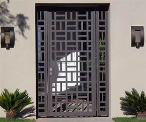Buy A Hand Crafted Custom Contemporary Metal Entry Gate