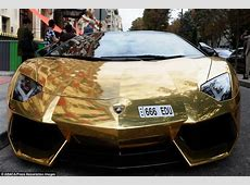 Gold Lamborghini worth £4m pictured in Paris could be