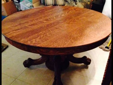 """I Just Purchased A 54"""" Quarter Sawn Claw Foot Solid Oak"""