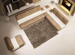 deco in paris canape d angle fauteuil modulable en cuir With canape d angle beige et blanc