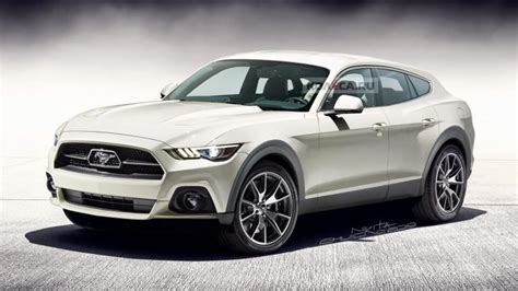 ford mustang based electric suv rendered