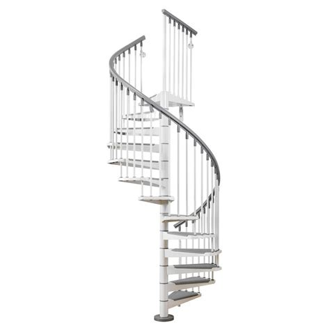 arke eureka 47 in white spiral staircase kit k21001 the