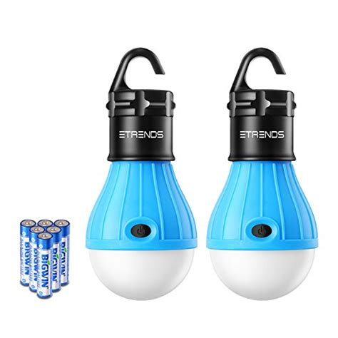 portable battery pack for christmas lights 2 pack e trends portable led lantern tent light bulb for