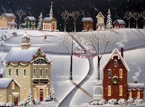 home christmas folk art print folk art christmas