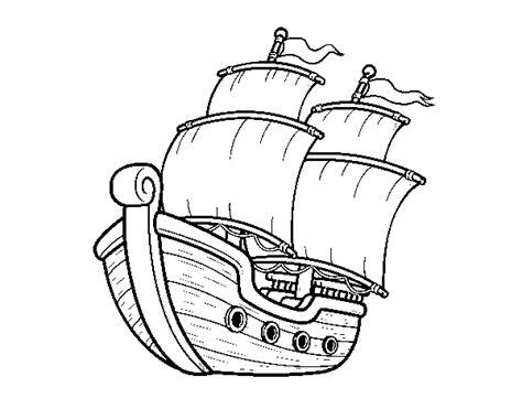 Barco De Vela Antiguo Dibujo by Dibujo De Barco De Vela Para Colorear Dibujos Net