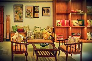 Fabric style city for House interior painting ideas india