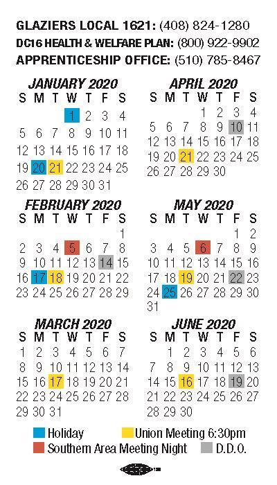 calendar iupat local
