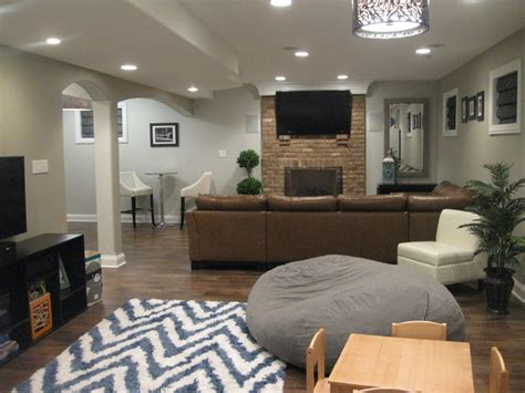 Finished Basement  Contemporary  Basement Chicago