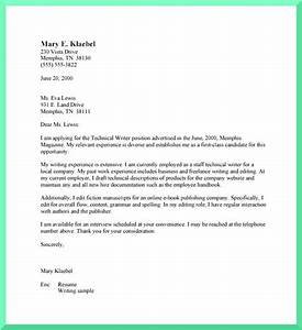 Formats for writing an excellent cover letter for Technical writer cover letter no experience