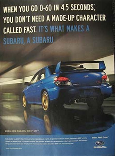 subaru advertising   years