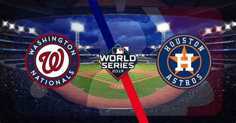nationals  astros game  betting prediction  world