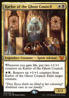 oloro commander deck ideas karlov of the ghost council