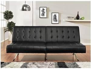 Banquette Cuir Noir : banquette clic clac malambo simili cuir noir acheter ~ Premium-room.com Idées de Décoration