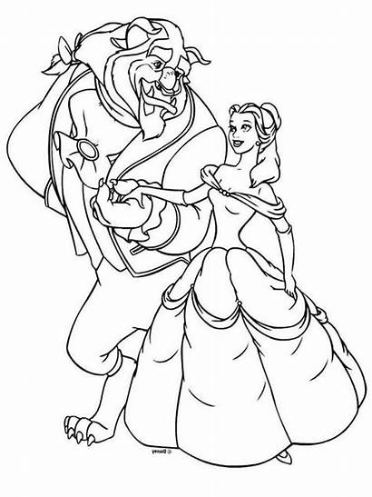 Princess Belle Coloring Pages Printable Prince