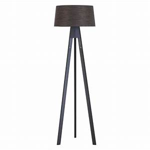 tripod dark stained wooden tripod floor lamp base buy With tesco tripod wooden floor lamp dark wood black shade