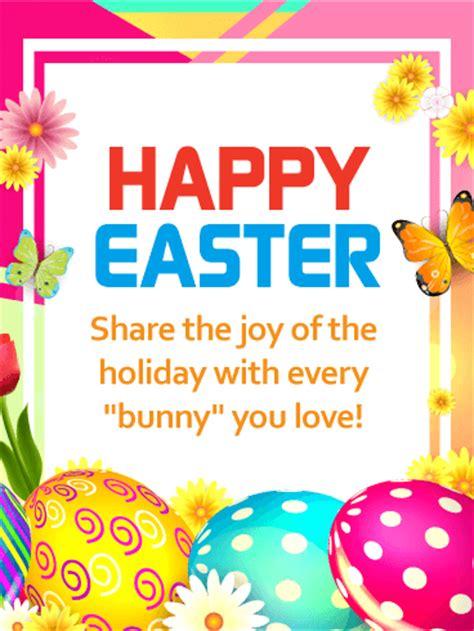 share  joy   holiday happy easter card birthday