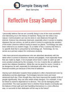 format of reflective essay reflective essay outline samples  sample reflective essay on research paper format of reflective essay