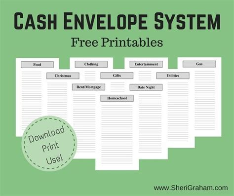 printable cash envelope system cash envelope system