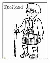 Coloring Scottish Clothing Traditional Pages Education Worksheets Worksheet Cultures Around Different Kilt Scotland Sheets Detailed Culture Many Children Globe Colouring sketch template